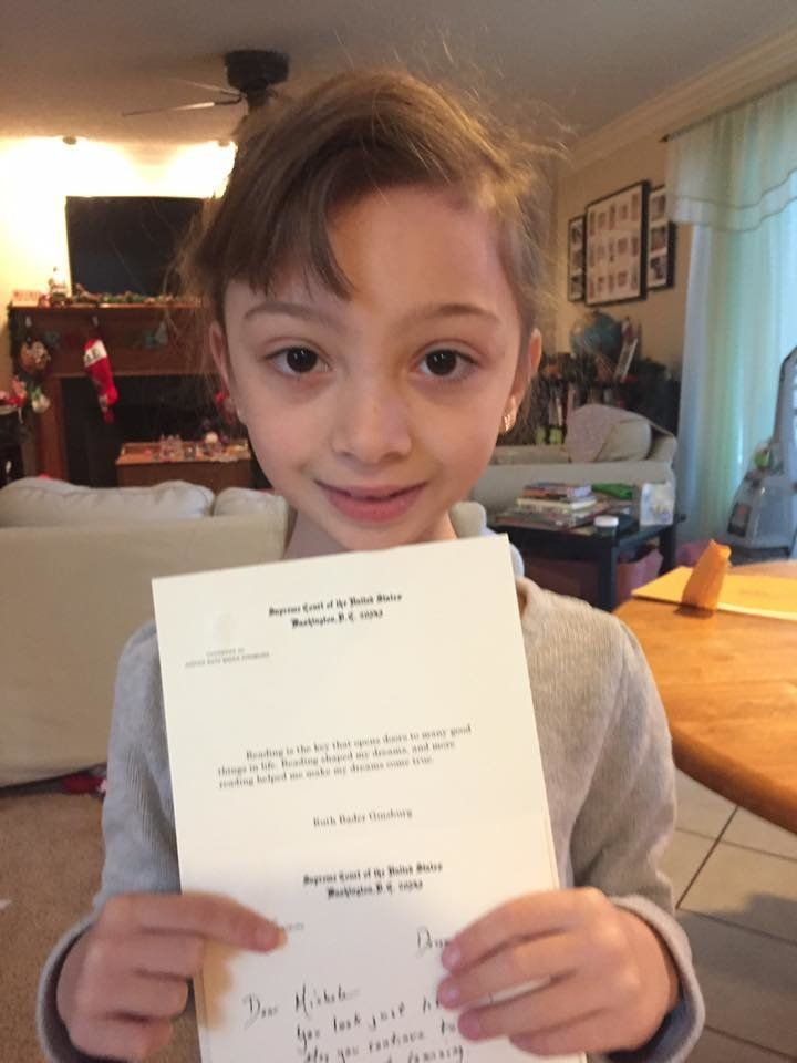 RBG Writes Personal Note To Girl Who Dressed Up As Her For Superhero