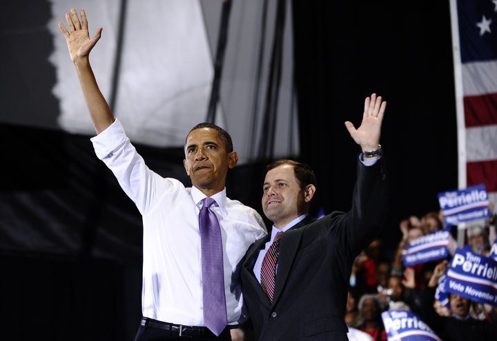 Tom Perriello, who is now running for governor of Virginia, had President Barack Obama's support for his 2010 congressional r