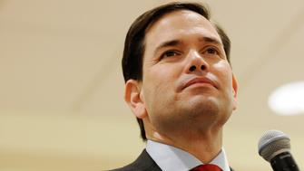 THE VILLAGES, FL - MARCH 13:  Republican presidential candidate, Sen. Marco Rubio (R-FL) speaks during a campaign rally at the Rohan Recreation Center on March 13, 2016 in The Villages, Florida. Rubio continues to campaign before the March 15 Florida primary.  (Photo by Gerardo Mora/Getty Images)