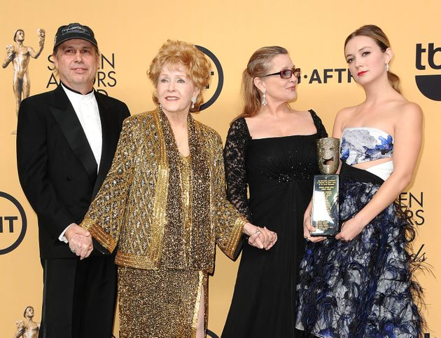 Todd Fisher, Debbie Reynolds, Carrie Fisher and Billie
