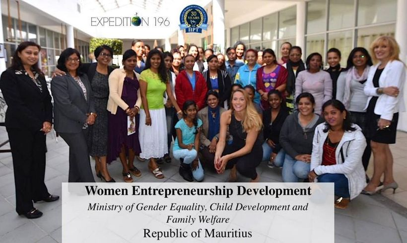 Meeting with women in Mauritius