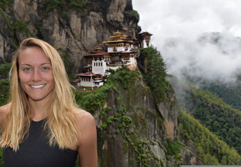 Cassie in Bhutan.