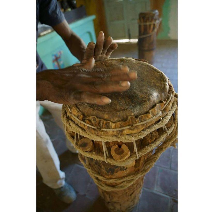 Afro-Cuban Religion: Santeria Temple. Cabildo de los Congos Reales de San Antonio, Trinidad, Cuba Here we heard a part of Oru