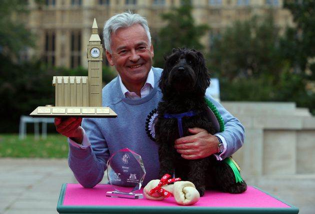 MP Alan Duncan with his cockapoo Noodle, who was announced as the winner of the Westminster Dog of the...