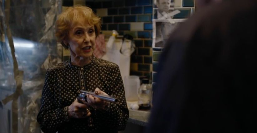 Mrs Hudson saved the day, outwitting even