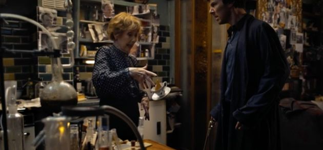 Sherlock has Mrs Hudson to thank for her