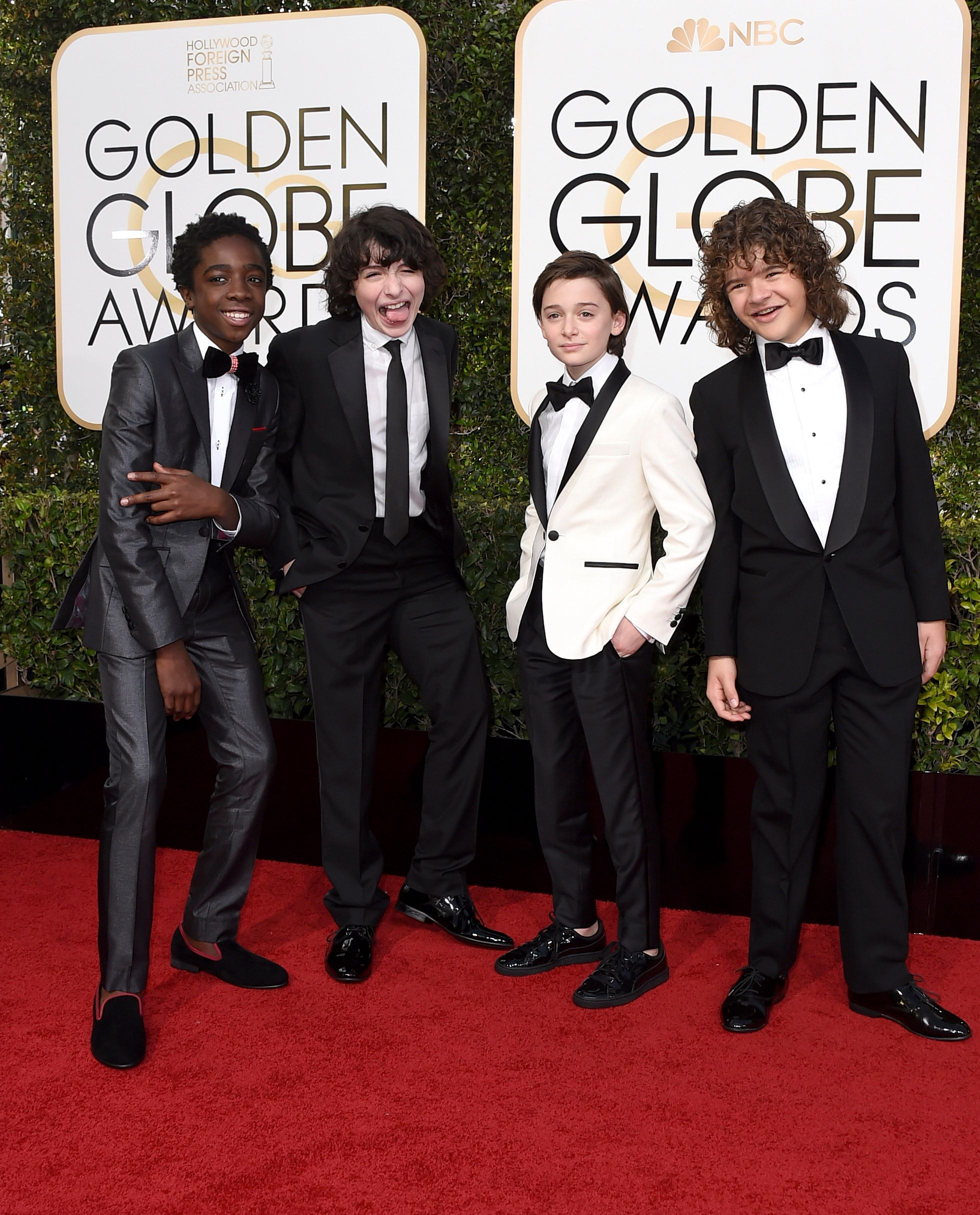 The 'Stranger Things' Gang Hit The Red Carpet At The Golden