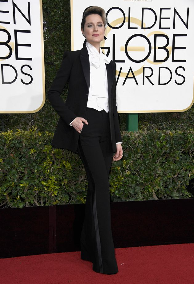 Golden Globes 2017: Evan Rachel Wood Wore An Altuzarra Tux To 'Show Girls Dresses Are Not A