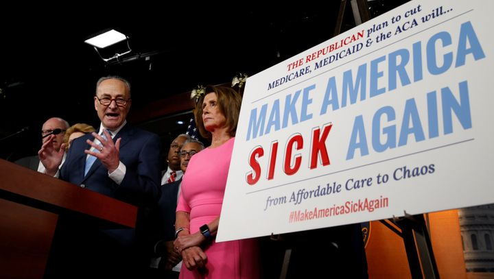 Senate Minority Leader Chuck Schumer organized the anti-repeal effort.