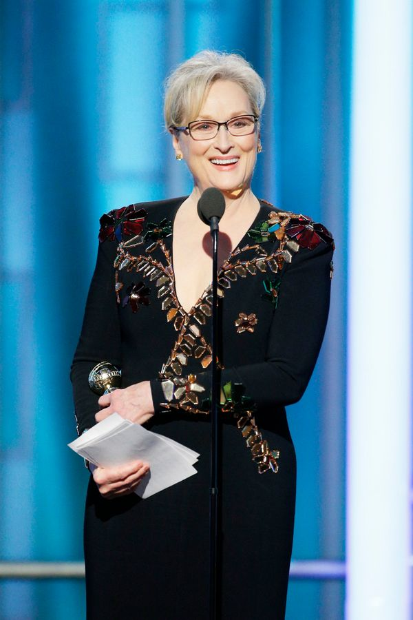 Meryl Streep wins theCecil B. DeMille award and slays with the perfect speech.