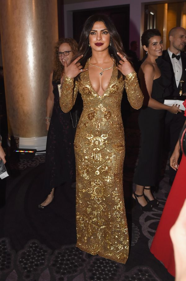 Priyanka Chopra stuns in gold.