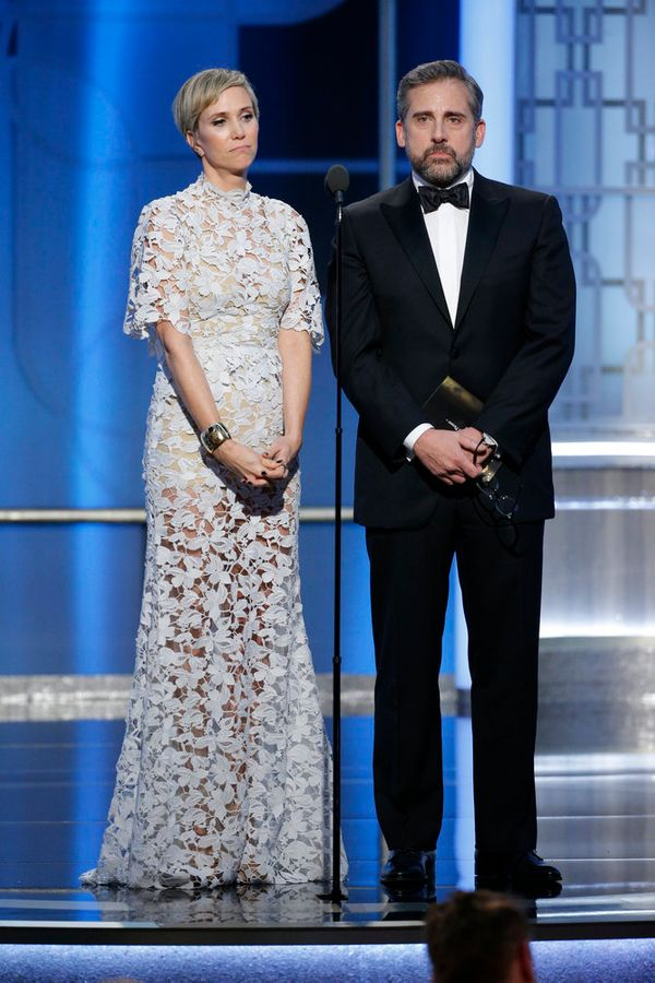Kristen Wiig and Steve Carell are in great comedic form presenting the award for Best Animated Film.