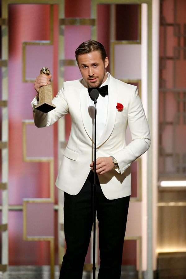 Ryan Gosling wins the award for Best Actor, Motion Picture, Musical or Comedy.
