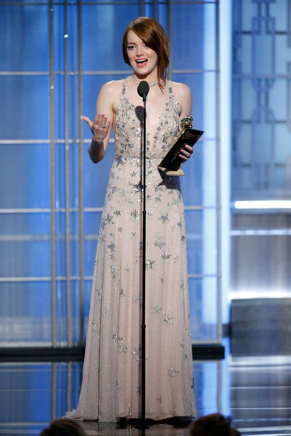 Emma Stone takes home the award for Best Actress, Motion Picture, Musical or Comedy.