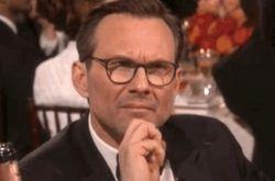 Christian Slater at the Golden Globe Awards