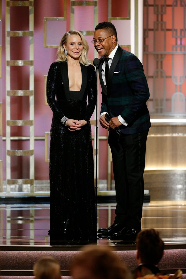 Kristen Bell and Cuba Gooding Jr. present the award forBest Performance by an Actress in a Supporting Role in a Series,