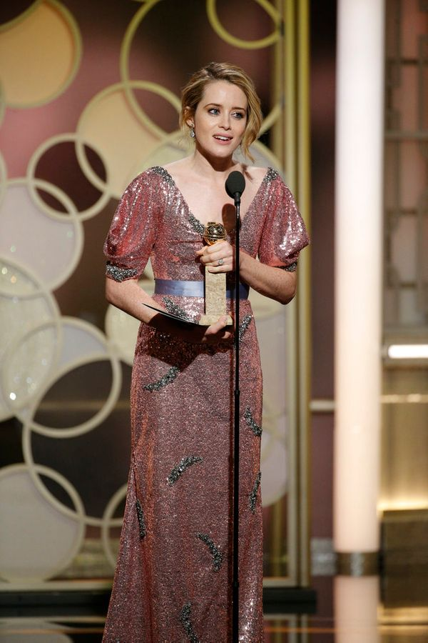 Claire Foytakes home the award for Best Actress, TV Series, Drama.