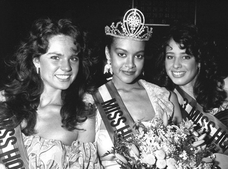 In spite of the visible dismay of some audience members, Nancy became the first black 'Miss Holland', back in 1984.