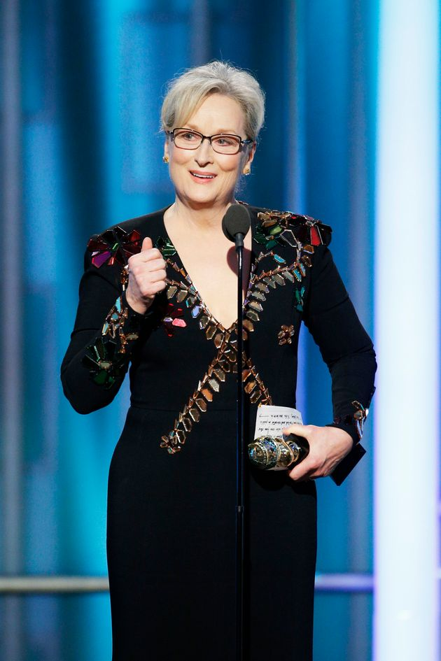 Meryl Streep was awarded a Lifetime Acheivement gong at the Golden