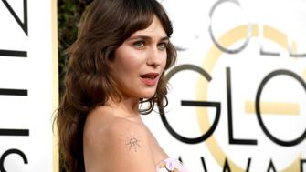 BEVERLY HILLS, CA - JANUARY 08:  74th ANNUAL GOLDEN GLOBE AWARDS -- Pictured:  Actress Lola Kirke arrives to the 74th Annual Golden Globe Awards held at the Beverly Hilton Hotel on January 8, 2017.  (Photo by Kevork Djansezian/NBC/NBCU Photo Bank via Getty Images)