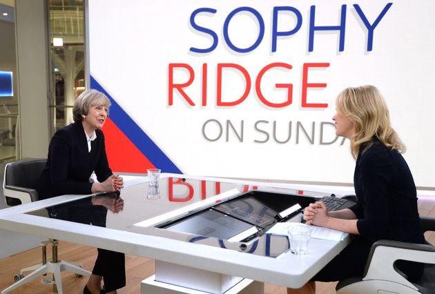 Theresa May on Sky News on