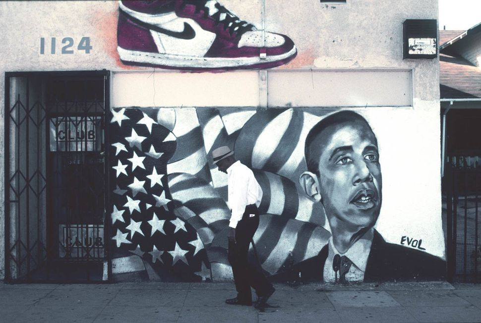 Mural by EVOL, 1124 Martin Luther King Jr. Blvd., Los Angeles, 2010.