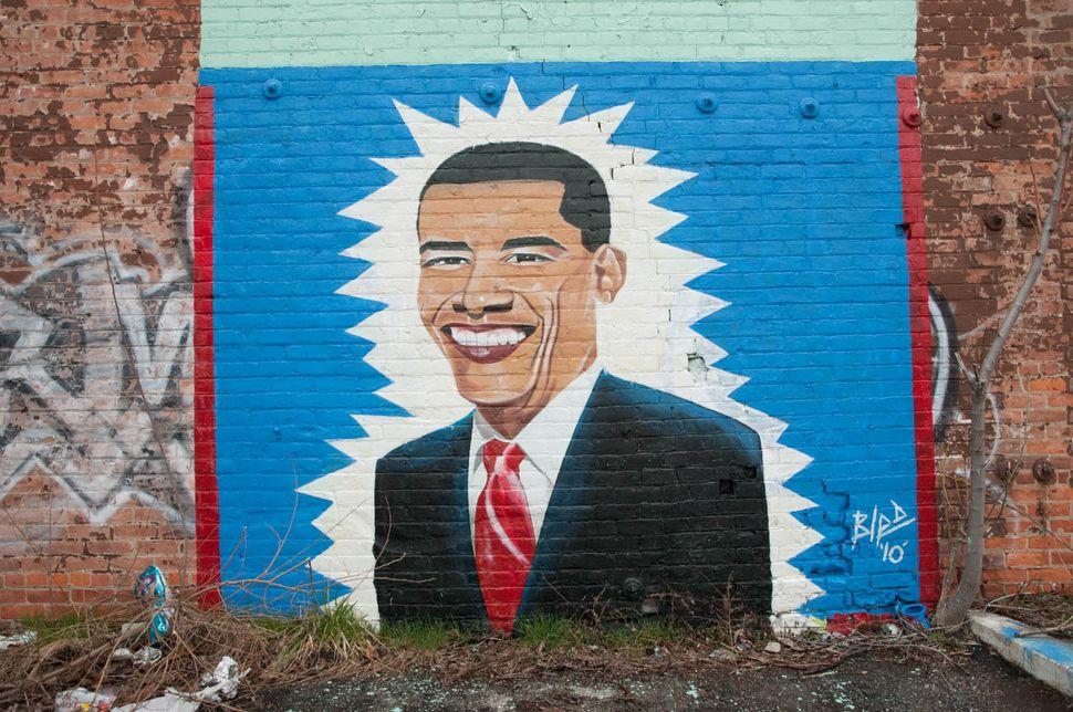 Mural by Bird at Gratiot Avenue, Detroit, 2010.