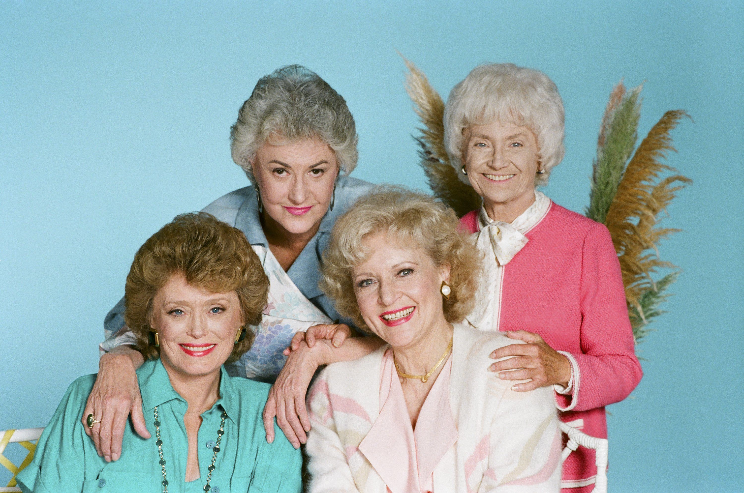 Rue McClanahan as Blanche Devereaux, Bea Arthur as Dorothy Petrillo Zbornak, Betty White as Rose Nylund and Estelle Getty as