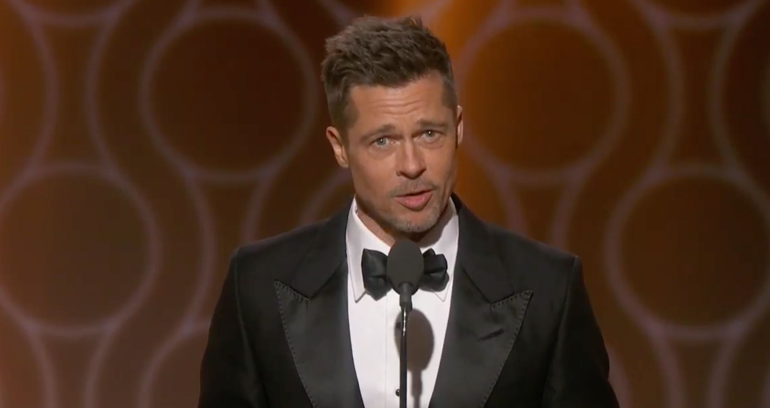 Hollywood Still Loves Brad Pitt, Judging By This Massive Round Of Applause At The Golden