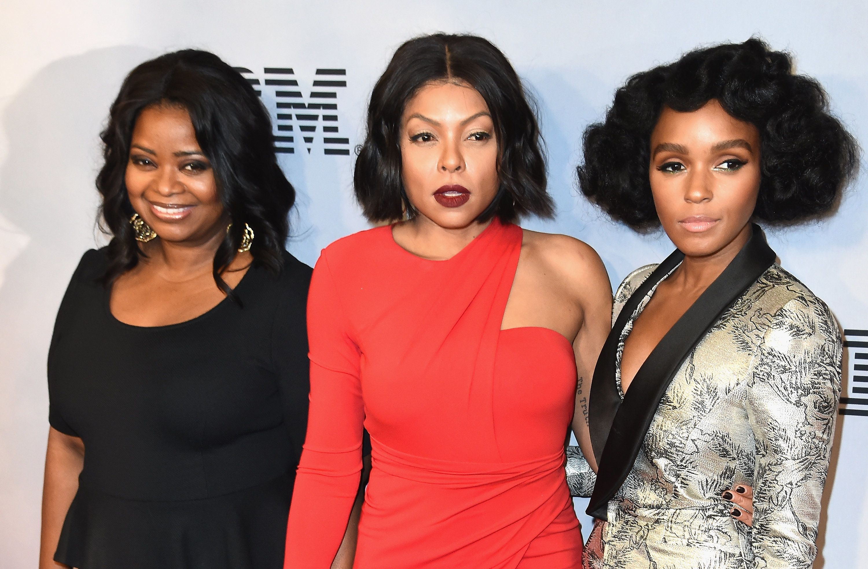 NEW YORK, NY - DECEMBER 10:  Octavia Spencer, Taraji P. Henson and Janelle Monae attends the 'Hidden Figures' New York Special Screening on December 10, 2016 in New York City.  (Photo by Nicholas Hunt/Getty Images)