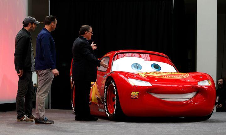 disney pixar s cars 3 unveils life size lightning mcqueen huffpost
