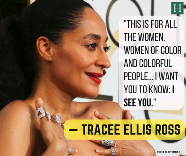 Tracee Ellis Ross became the first black woman in 34 years (since Debbie Allen in 1982) to win a Best Actress award in televi