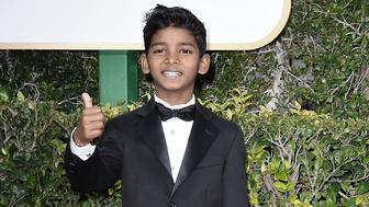 BEVERLY HILLS, CA - JANUARY 08:  Sunny Pawar attends the 74th Annual Golden Globe Awards - Arrivals at The Beverly Hilton Hotel on January 8, 2017 in Beverly Hills, California.  (Photo by David Crotty/Patrick McMullan via Getty Images)