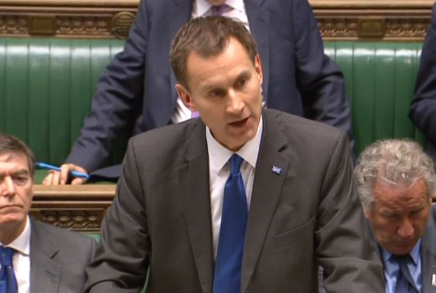 Health Secretary Jeremy Hunt making a statement on the NHS in the House of Commons as he has been accused...