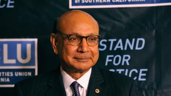 BEVERLY HILLS, CA - NOVEMBER 13:  Attorney and Gold Star Father Khizr Khan attends ACLU SoCal's 2016 Bill of Rights dinner at the Beverly Wilshire Four Seasons Hotel on November 13, 2016 in Beverly Hills, California.  (Photo by Michael Tullberg/Getty Images)