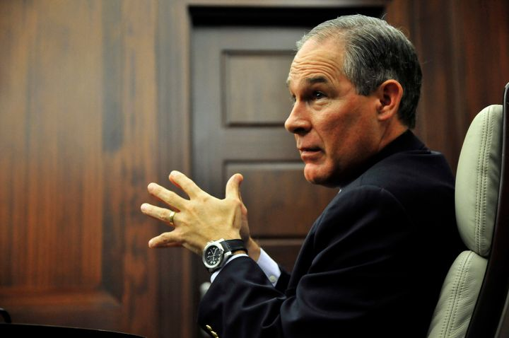 Oklahoma Attorney General Scott Pruitt in a meeting in Oklahoma City, July 29, 2014.