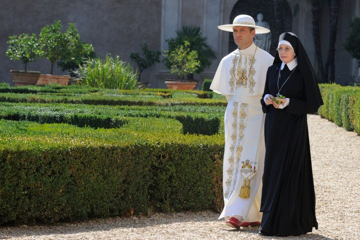 Diane Keaton plays a nun and the conservative pope's main confidante.