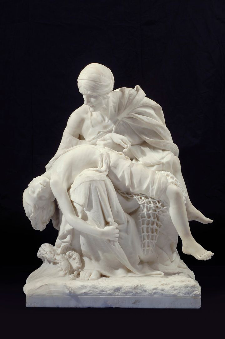 """Après la tempête (After the Storm)"" (ca. 1876) by Sarah Bernhardt, on view at the NMWA."