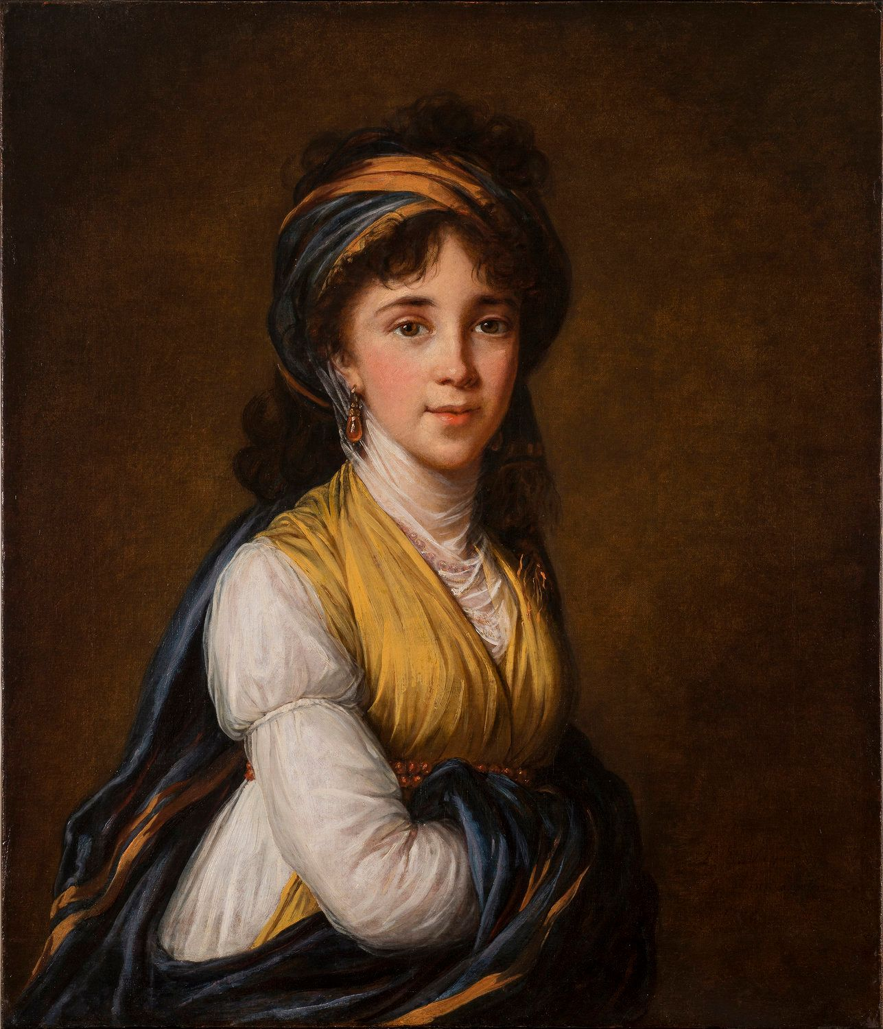 "Elisabeth Louise Vigée-LeBrun, ""Portrait of Princess Belozersky,"" 1798, oil on canvas, 31 x 26 1/4 in."