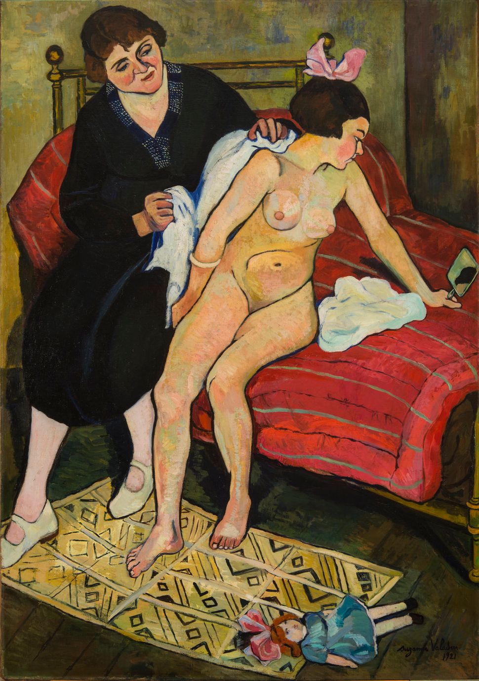 "Suzanne Valadon, ""The Abandoned Doll,"" 1921, oil on canvas, 51 x 32 in."
