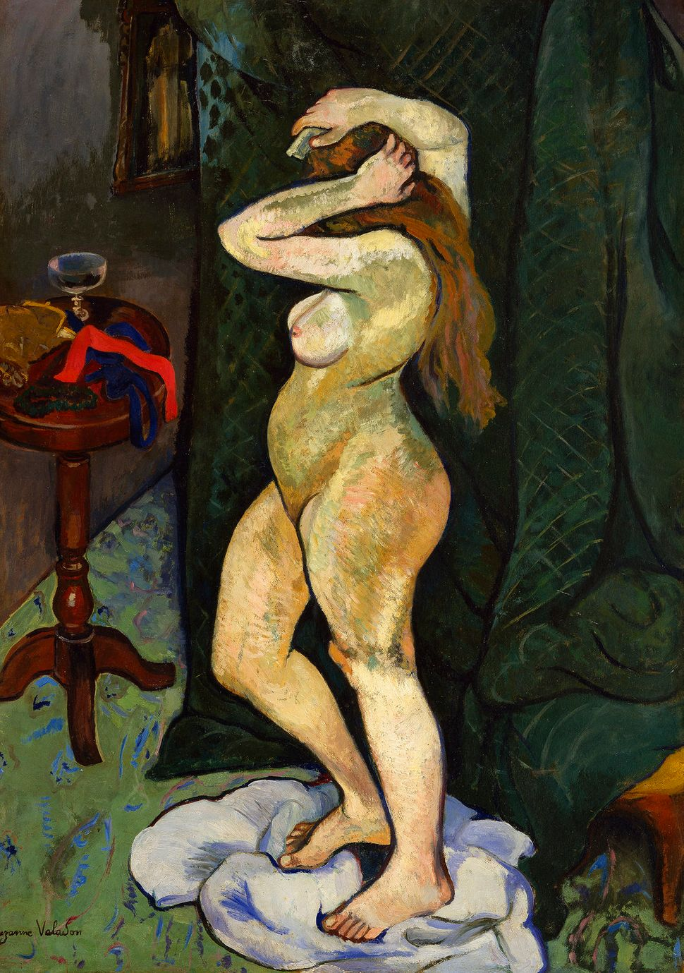 "Suzanne Valadon, ""Nude Doing Her Hair,"" ca. 1916."