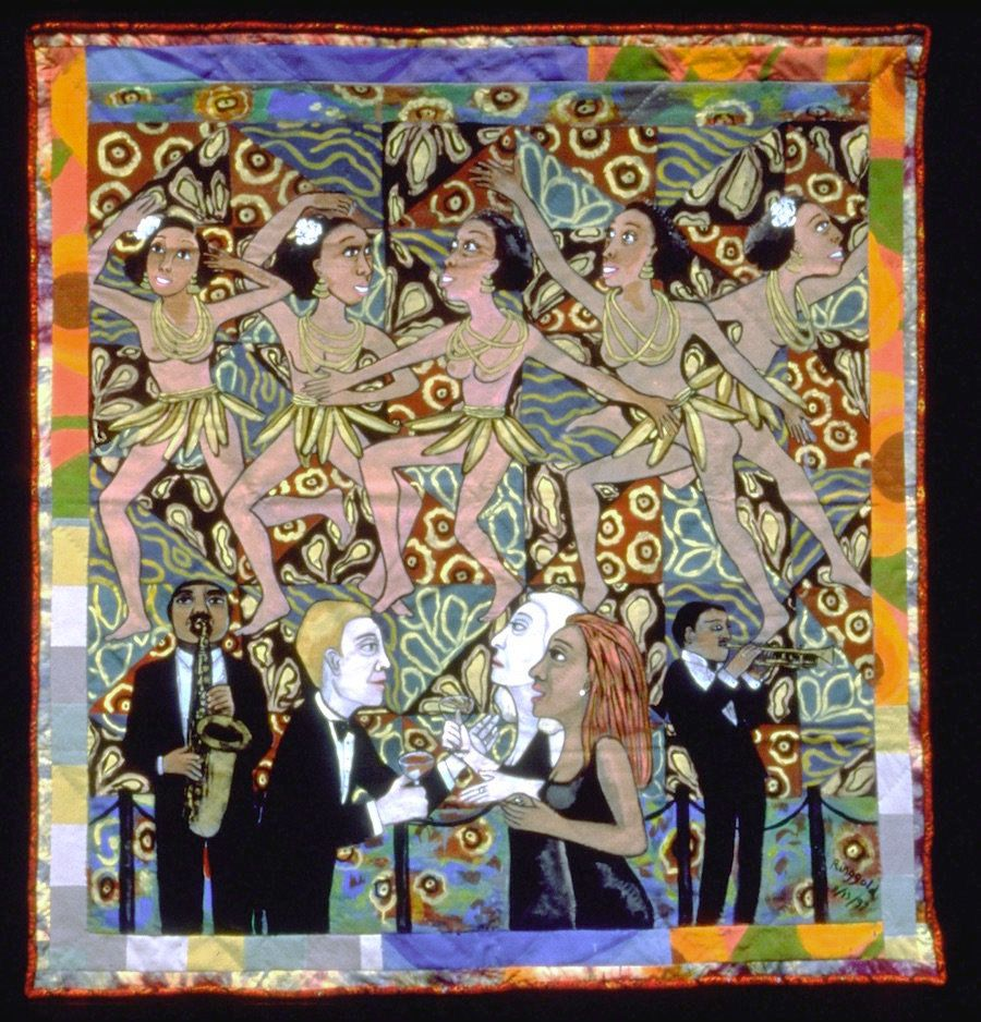 "Faith Ringgold, ""<i>American Collection #4:</i> <i>Jo Baker&rsquo;s Bananas</i>,"" 1997. Photograph courtesy of the artist; &c"