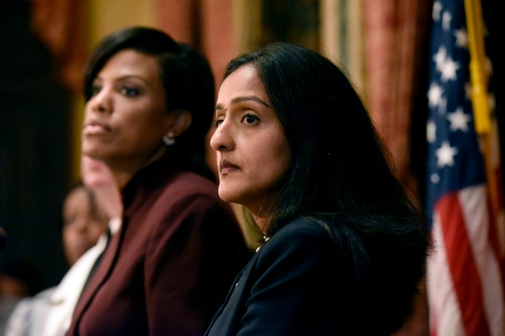 Vanita Gupta, the current head of the Civil Rights Division, at an Aug. 10, 2016, news conference on the Justice Department's