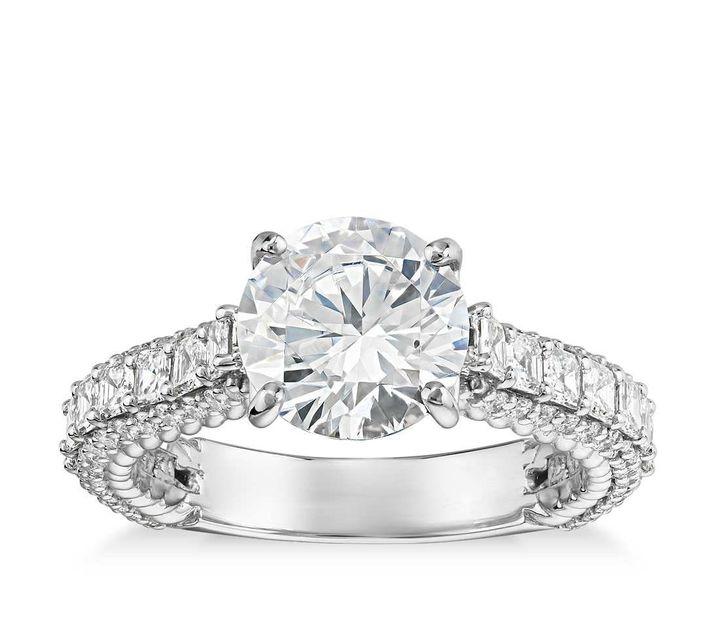 <p>Bella Vaughan Grandeur Roped Diamond Engagement Ring, $4,650 (setting only).</p>