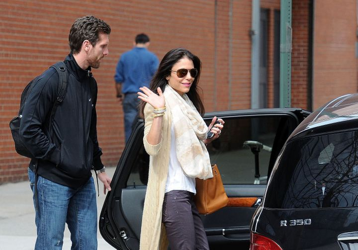 Bethenny Frankel (R) and Jason Hoppy are seen on March 12, 2012, in New York City.