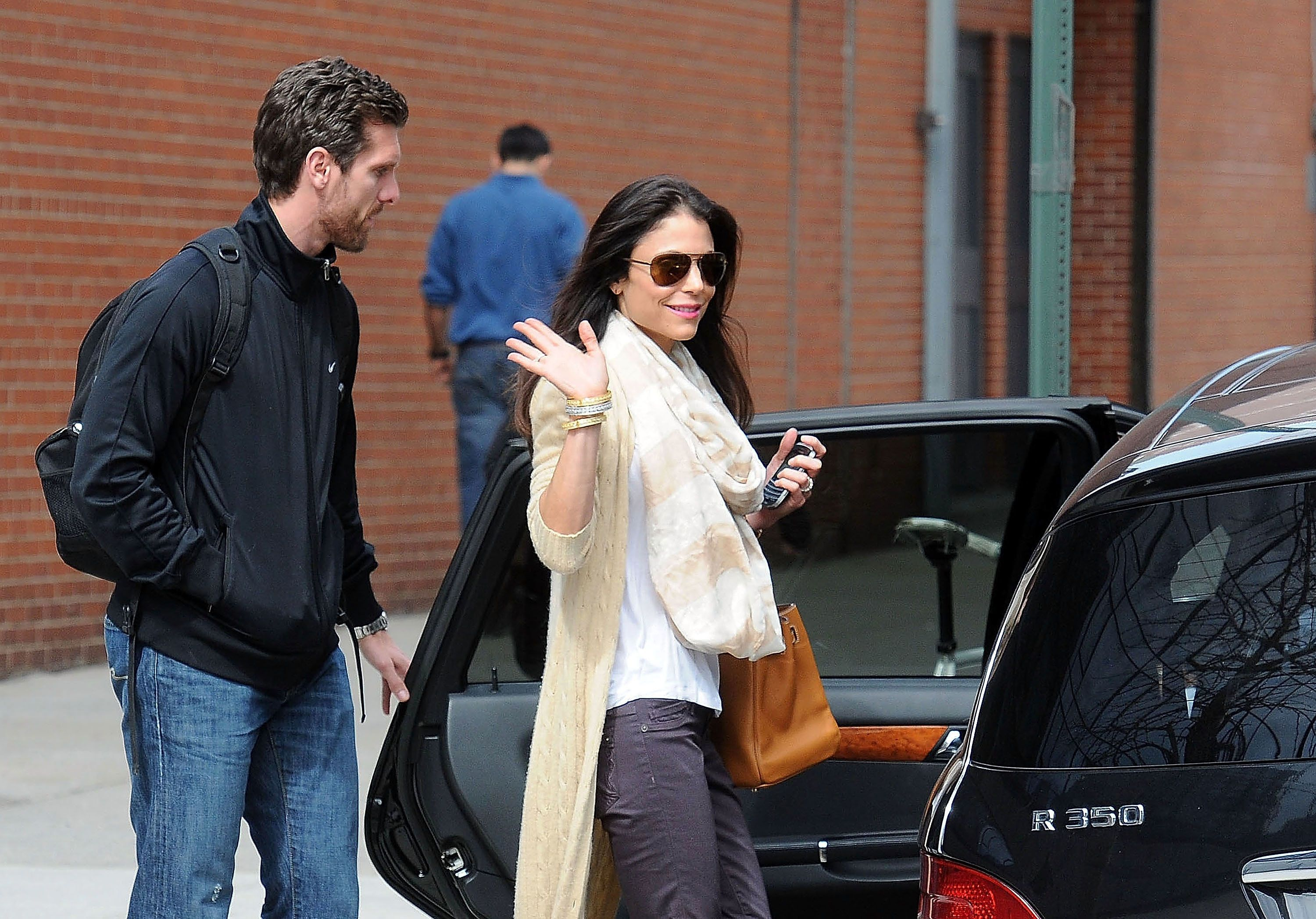 NEW YORK, NY - MARCH 12: Bethenny Frankel (R) and Jason Hoppy are seen on March 12, 2012 in New York City.  (Photo by Mario Magnani/Bauer-Griffin/GC Images)