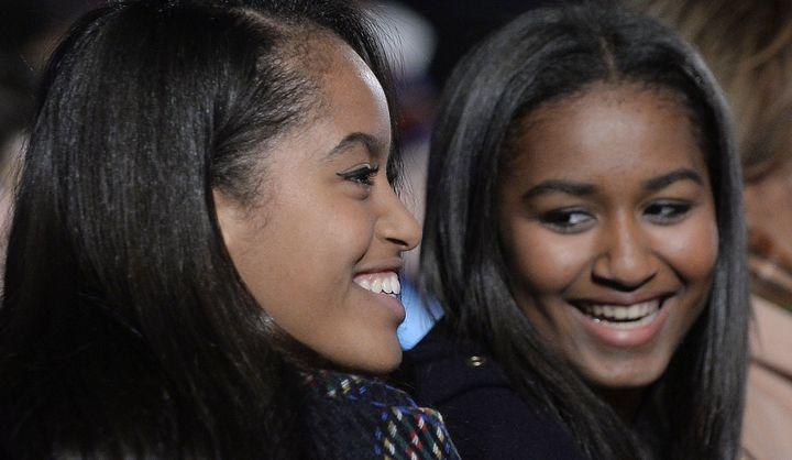 Malia and Sasha Obama.