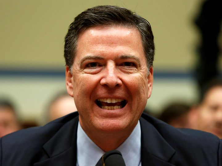 This is the face of a man who gets to argue with Republicans over why the FBI isn't recommending criminal charges agains