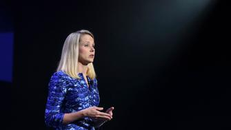 Yahoo CEO Marissa Mayer delivers her keynote address at the annual Consumer Electronics Show (CES) in Las Vegas, Nevada January 7, 2014. REUTERS/Robert Galbraith (UNITED STATES - Tags: BUSINESS SCIENCE TECHNOLOGY)