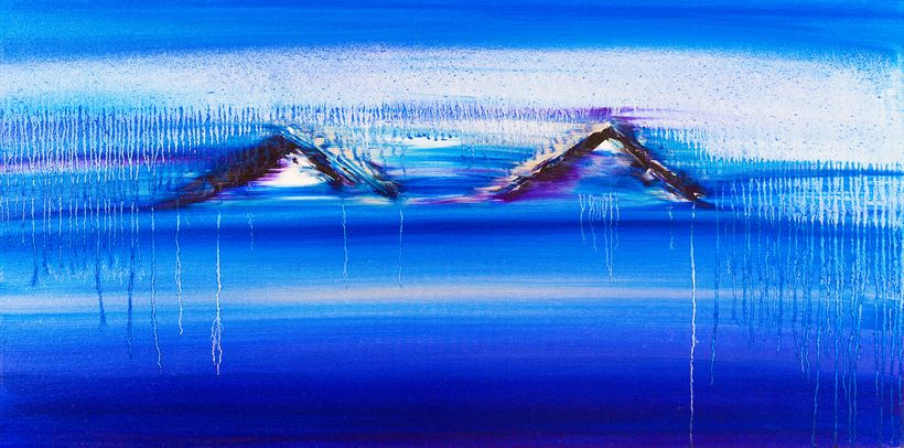 Jill Joy: Alaska, 2016, oil on canvas, 24 x 48 in.